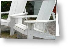 Ice-coated Chairs Greeting Card
