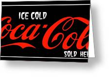 Ice Cold Coke 8 Coca Cola Art Greeting Card