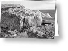 Ice Covered Rocks  Greeting Card