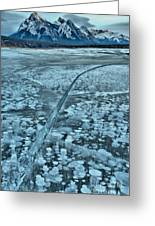 Ice Cracks And Bubbles Greeting Card