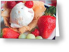 Ice Cream And Strawberries Greeting Card