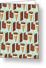 Ice Cream Novelties Pattern Greeting Card