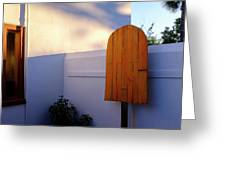 Ice Cream Shop Wooden Popsicle In Saint Augustine Florida Greeting Card