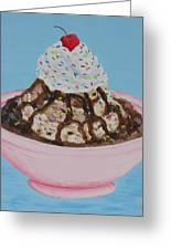 Ice Cream Sundae With Sprinkles Greeting Card