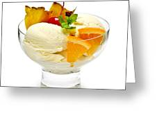 Ice Cream With Fruit Greeting Card