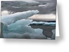 Ice Drama Greeting Card by Elisabeth Van Eyken