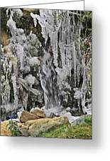 Ice Droplets  Greeting Card