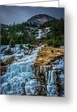 Ice Fall Greeting Card