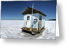 Ice Fishing Shack Greeting Card