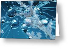 Ice Flower Abstract Greeting Card
