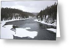 Ice Flows Greeting Card