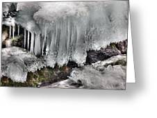 Ice Formation 2 Greeting Card