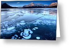 Ice Formations Greeting Card
