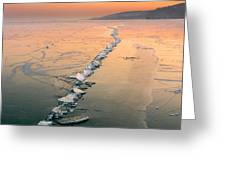 Ice Fracture Greeting Card