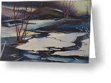 Ice Fragments Greeting Card