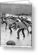 Ice Hockey, 1898 Greeting Card by Granger