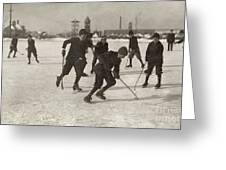 Ice Hockey 1912 Greeting Card