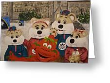 Ice Hog Family Greeting Card