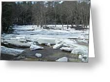 Ice Jam On The Isinglass River Barrington Nh Greeting Card