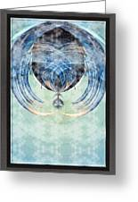 Ice Layered Effect And Framed Greeting Card