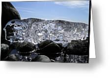 Ice On Rocks 3 Greeting Card