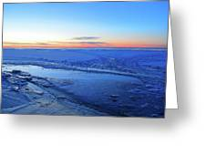 Ice On The Lake Two  Greeting Card