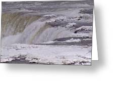 Ice Over The Falls Greeting Card