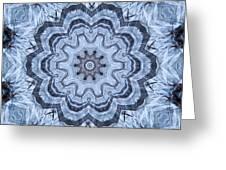 Ice Patterns Snowflake Greeting Card