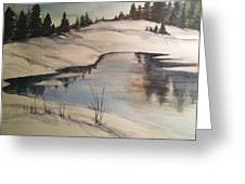 Ice Pond Greeting Card