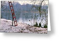 Ice Rescue Ladder  Greeting Card