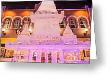 The Annual Ice Sculpting Festival In The Colorado Rockies, The Castle With A Parapet Greeting Card