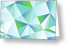 Ice Shards Abstract Geometric Angles Pattern Greeting Card