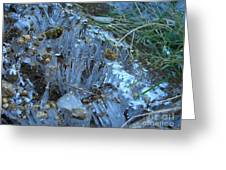 Ice Shards Greeting Card