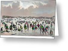 Ice Skating, C1859 Greeting Card