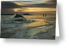 Ice Trail Hikers Greeting Card
