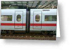 Ice Train At Berlin Station Greeting Card