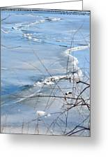 Ice Waves Greeting Card