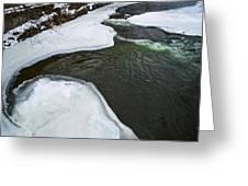 Ice Whirlpool Greeting Card