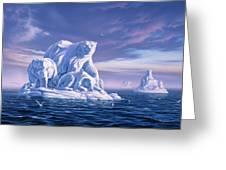 Icebeargs Greeting Card by Jerry LoFaro