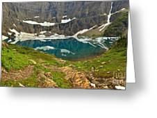 Iceberg Lake Glacier Greeting Card