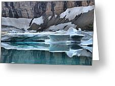 Iceberg Lake Icebergs Greeting Card