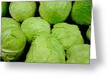 Iceberg Lettuce Greeting Card
