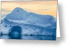Iceberg On The Jokulsarlon Glacial Greeting Card
