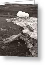 Iceberg Silo Greeting Card