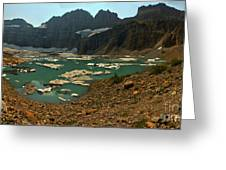 Icebergs Below Grinnell Glacier Greeting Card