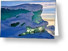 Iceberg's Glow - Mendenhall Glacier Greeting Card