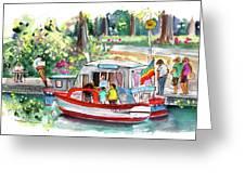 Icecream Boat In York Greeting Card