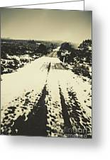 Iced Over Road Greeting Card