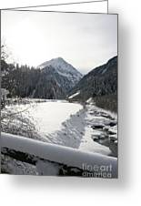 Iced River Greeting Card