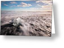 Iceland And Glaciers Greeting Card